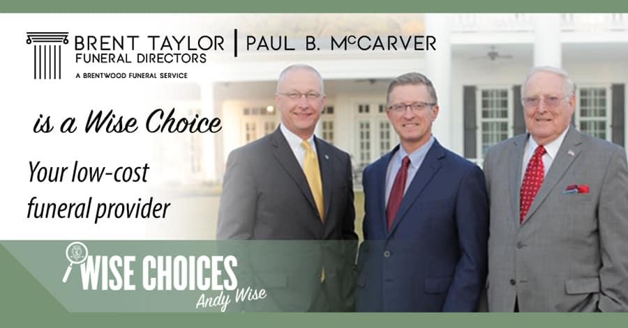 Brent Taylor Paul B. McCarver Funeral Directors